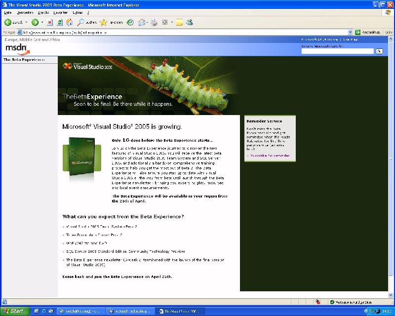 Visual Studio 2005 Beta2 is comming!!! - Jochen Kalmbach's